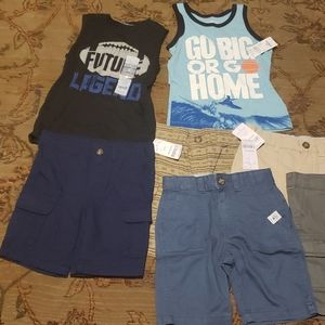 Brand new 4t shorts and tanks